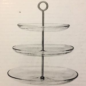 BNIB IKEA glass plate stand